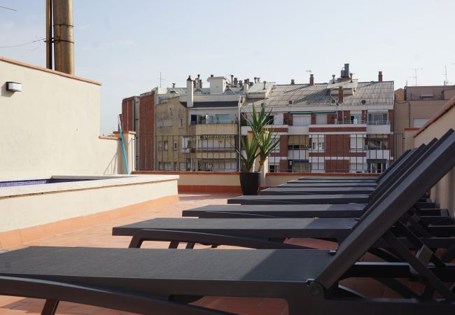 Ferielejlighed i Barcelona - DELUXE SUITE, central, boho chic, balcony