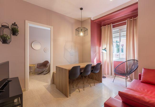 Wohnzimmer in der Wohnung Plaza España Zentrum Barcelona