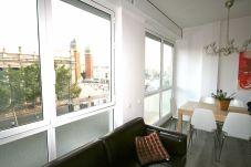 Appartement in Barcelona - PLAZA ESPAÑA DELUXE & FIRA, piso en alquiler por días muy bonito y luminoso, vistas a Plaza España, Barcelona.