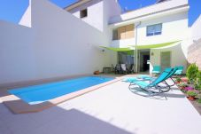 Photo of the beautiful pool from the village house in Muro Mallorca