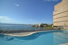 Apartment in Salou - Margon Salou:Terrace sea view-100m beach-Pool-Free Wifi,Linen,Parking