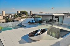 The villa in buger has a beautiful terrace