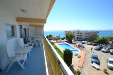 Apartment in Salou - Ulises Salou:Terrace sea view-Pool-Near coves-Free A/C,sat,parking