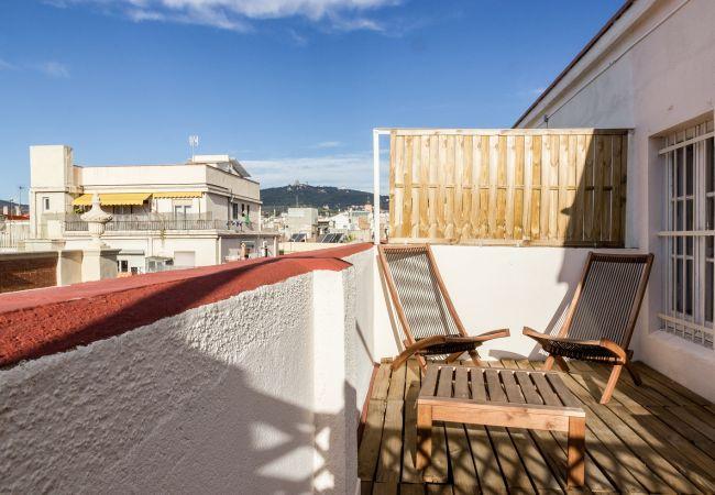 Апартаменты на Барселона / Barcelona - ATIC GRACIA, terrace, lightly, views