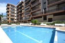 Lägenhet i Salou - CASALMAR:Centro Salou-350m playa-AC,Wifi,Ropa,Parking GRATIS-3HAB+2Baños-Lavavajillas